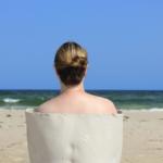 woman by a beach